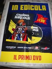 LOCANDINA POSTER MANIFESTO DVD CAPITAN HARLOCK ROBOT N. 1 cm 48,00 X 68,00 cm !!