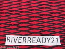 Hydro Turf Roll-Sheet Red / Black Diamond 37X58 W/PSA Jet-Ski Sea-Doo SUP NSTOCK