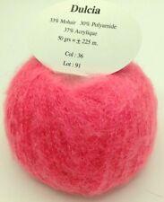 10 pelotes 33 %  kid  mohair couleur rose fluo   - fabriqué en France