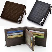 Men Leather Short Wallet Bifold Money Clip Card Case Holder Pocket Purse