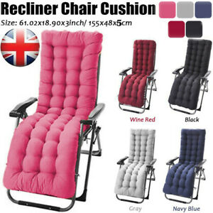 Multicoloured Replacement Cushions Pad Home Outdoor Lounger Recliner Chair Seat