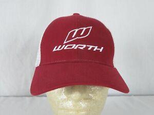 Worth Baseball Softball Red Strapback Hat