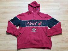 Miami Heat Hooded Jacket Button Hoodie Adidas Trefoil Logo Script Size Medium