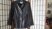 Nine West Leather Women's Fashion Jacket Blazer Coat Fully Lined Small Clothing