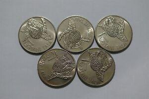 TOKELAU 1 TALA 1978 - 5 COINS LOT B36 ZF2