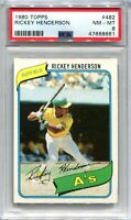 1980 Topps 482 Rickey Henderson Rookie PSA 8 NM-MT