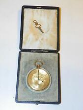 ANTIQUE ~1860 18K GOLD BREITLING LAEDERICH SWISS OPEN DIAL KEY-WIND POCKET WATCH