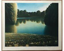 Arnd Maibaum: Genesis: Wiese - Große signierte Orig. Farbradierung von 1972