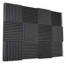 """Soundproofing Foam Acoustic Tiles Foam Sound Wedges 2"""" H x 12"""" W x 12"""" L- 12pack"""