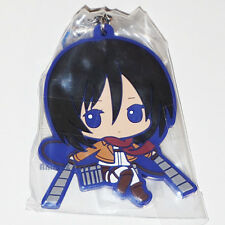 Official Attack on Titan rubber mascot strap - Mikasa By BANDAI SNK *NEW*