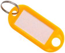 Schlüsselschilder gelb Schlüsselanhänger Zum Beschriften Yellow
