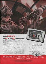1943 Inter-Call Signal Box Machine Gun Aircraft Plane Original Vintage Print Ad