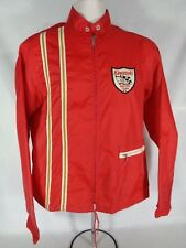 "Kawasaki Motorcycle Racing ""Team Red"" Men's Windbreaker Jacket 60's Vtg Small"