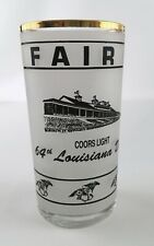 Louisiana Derby 1989 Drinking Glass New Orleans Fairgrounds LA Horse Racing 64th