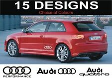 Audi S3 S4 S5 S6 A3 A4 A5 A6 S LINE AUDI QUATTRO Aufkleber 2 aus AUDI