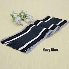 Men's New Classic Cashmere Winter Warm Fringe Stripe Tassel Knit Shawl Scarf