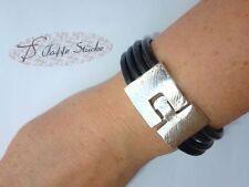 Handgefertigte Modeschmuck-Armbänder aus Leder ohne Metall