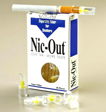 NIC OUT 1 Pack Cigarette Filters 30 Tips Filter Out Tar & Nicotine