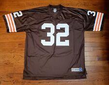NWOT NFL Cleveland Browns Jim Brown #32 Football Jersey Vintage 2XL Pro Line XXL