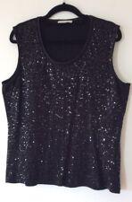 Ladies Black Sparkling Sleeveless Top Size Medium By Windsmoor