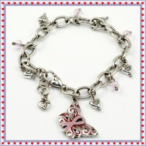 Brighton Power of Pink Breast Cancer Butterfly Bracelet