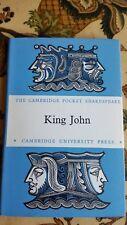 King John - The Cambridge Pocket Shakespeare -1958 Cambridge University Press hb