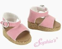 """Doll Clothes 18"""" Wedge Sandals Pink Fits American Girl Dolls"""