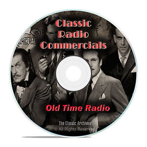 1,483 Classic Old Time Radio Commericals, Ads, Advertisments mp3 OTR DVD G37
