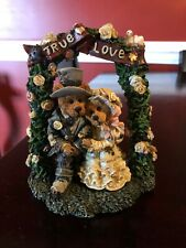 Boyd's Bears Bearstone Resin Figurine Wedding Grenville & Beatrice True Love Sty