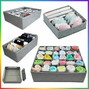 3 x Aufbewahrungsbox Kasten Unterwäsche Socken BH Hälter Krawatten Organizer