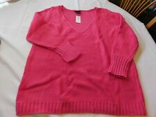 Lane Bryant Women's Ladies Long Sleeve Pullover Sweater Pink 4511 Size Variation