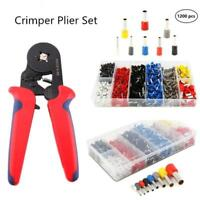 Ferrule Crimper Crimping Plier Tool Kit 1200pcs Wire Terminal Connector Set UK