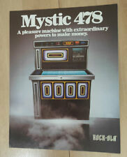 Rock-ola Rockola Mystic 478 Vinyl Jukebox Sales Brochure / Flyer / Pamphlet