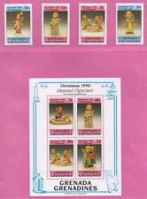 Grenada -  ** / postfrisch/ MNH - Hummelfiguren - Weihnachten 1990