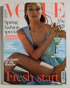 Vogue Magazine UK Gigi Hadid cover March 2017   Mint