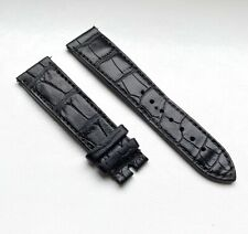 OEM Zenith 21mm Lug Black/Brown Alligator Leather Watch Strap