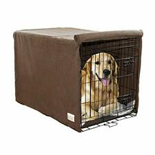 """New listing Ultra Absorbent Microfiber Chenille Dog Crate Large (48"""" x 30"""" x 33"""") Brown"""