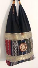 Beautiful Handmade Women's Shoulder Bag - Thai Asian Elephants Design