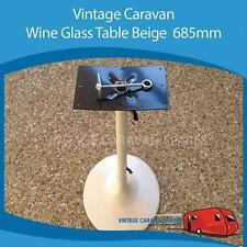 Caravan WINE GLASS TABLE BEIGE 685mm,  Vintage Viscount, Millard, York CB0159