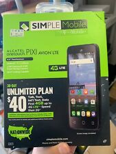 Simple Mobile Alcatel OneTouch Pixi Avion 4G LTE PrePaid Unlimited NationWide