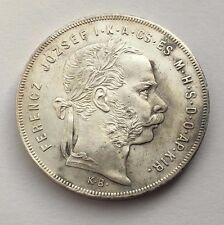 1879 HUNGARY SILVER FORINT FRANZ JOSEPH I COIN