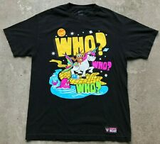 WWE Authentic Wear The New Day Who Who Who Black T-Shirt Large