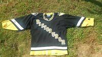 Vintage NHL Pittsburgh Penguins Black Starter Hockey Jersey Size Extra Large XL