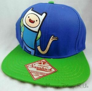 Adventure Time With Finn & Jake Wave Embroidered Snapback Hat Cap With Flatbill