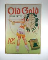 Old Gold Cigarettes Tin Sign 16 x 11 Repro Advertisement Desperate Sign Co.