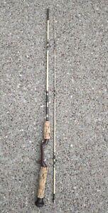 Vintage Zebco Casting Fishing Rod 6' 2-pc USA Fiberglass