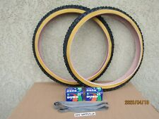 26'' X 1.95 GUM-WALL BICYCLE TIRES, [2] TUBES & [2] LINERS FOR , MTB, CRUISER