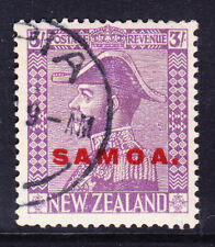 SAMOA 1927 SG170 3/- pale mauve Admiral of NZ opt - very fine used. Cat £110