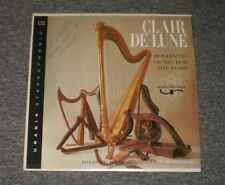 Clair De Lune~Romantic Music For The Harp~Mildred Dilling~AUTOGRAPHED~FAST SHIP