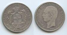 G0264 - Griechenland 5 Drachmai 1876 A KM#46 Silber George I.1863-1913 Greece